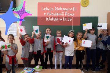 Lekcja kleksografii w klasie 3 b